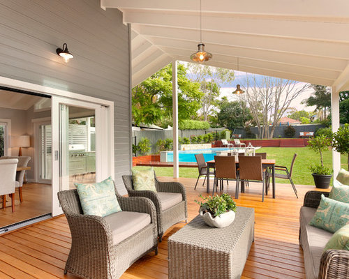 This Is An Example Of A Country Side Yard Deck In Central Coast With Roof