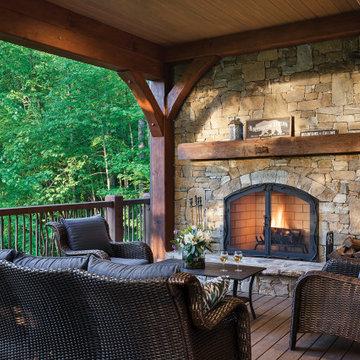 Timber Frame in North Carolina - Jackson County Residence