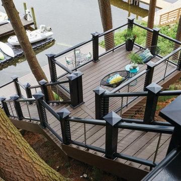 TimberTech AZEK Arbor Collection Decking in Brazilian Walnut