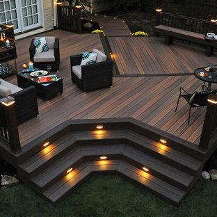Ispirazione per grandi terrazze e balconi minimal dietro casa con nessuna copertura