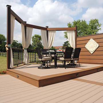 TimberTech Terrain Collection in Sandy Birch with Brown Oak Accents