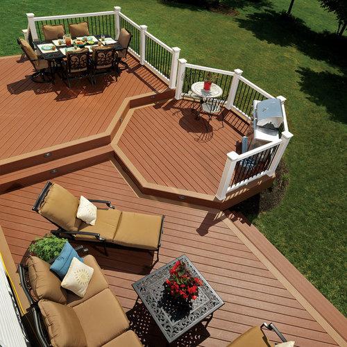 Octagonal deck houzz for How to build an octagon deck