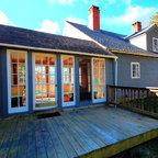 Bucks County Farm House Deck Farmhouse Deck