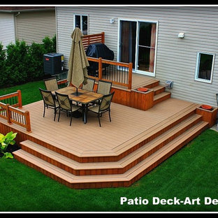 Example of a classic deck design in Montreal