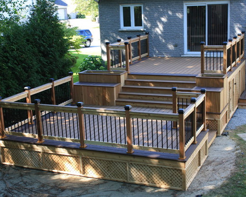 Two level deck ideas pictures remodel and decor for 2 level deck designs