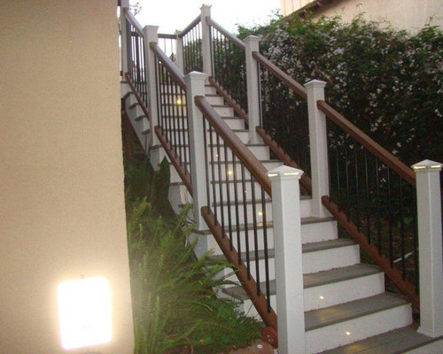 Best Composite Deck Stairs Design Ideas Remodel Pictures Houzz