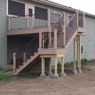 Deck - modern backyard deck idea in Other