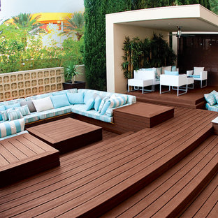 Design ideas for a contemporary terrace and balcony in DC Metro.