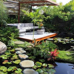 Immagine di una terrazza tropicale