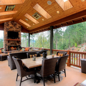 Two Level Covered Deck