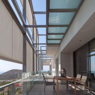 Imagen de terraza actual con pérgola