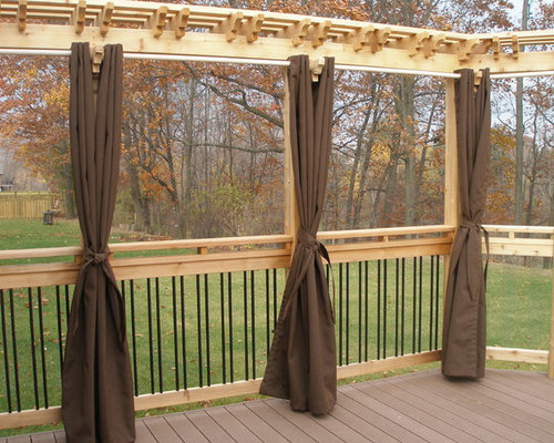 Deck privacy walls houzz for Balcony wall ideas