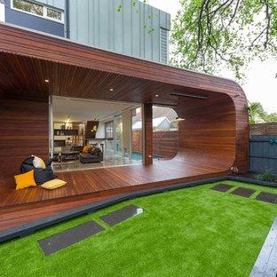Ultra-modern oval outdoor deck