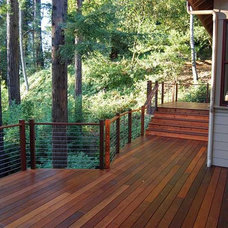 Modern Porch by Ultra-tec Cable Railing by The Cable Connection