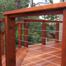 Modern Deck by Ultra-tec Cable Railing by The Cable Connection