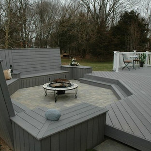 Unique deck and patio combination design in Middletown, CT