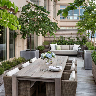 Deck - transitional deck idea in New York with no cover