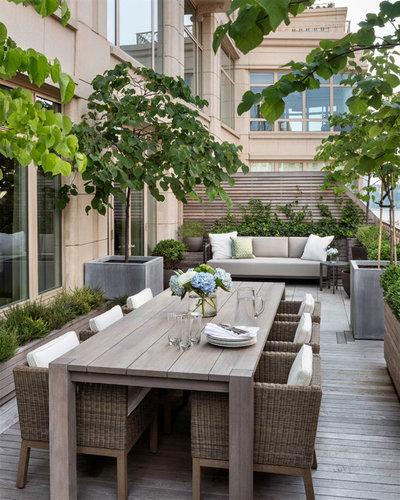 Clásico renovado Terraza y balcón by Gunn Landscape Architecture