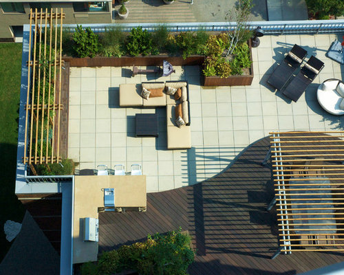 Rooftop Deck Design Ideas inspiring rooftop deck design ideas Example Of A Trendy Rooftop Deck Design In New York With A Pergola