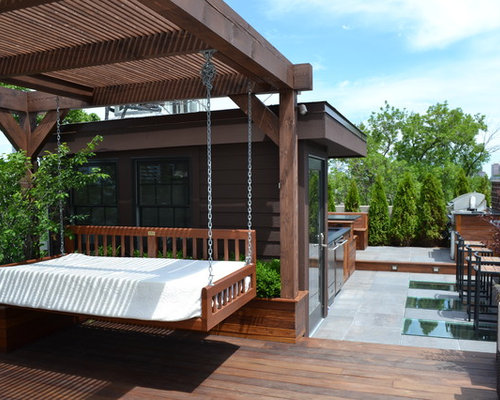 dachterrasse mit outdoor k che ideen design bilder houzz. Black Bedroom Furniture Sets. Home Design Ideas
