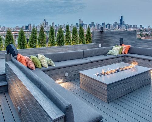 Dachterrasse mit Feuerstelle Ideen, Design & Bilder   Houzz