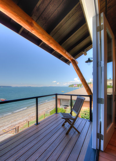 Houzz Tour Log Cabin On Puget Sound Has More Room To Spare