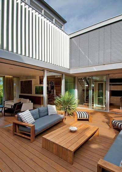Contemporary Deck by Horizon - Residential & Commercial Builders