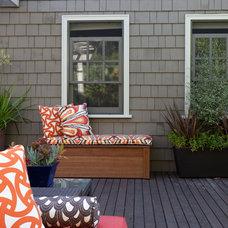 Contemporary Deck by Jane Srebnik Garden Design
