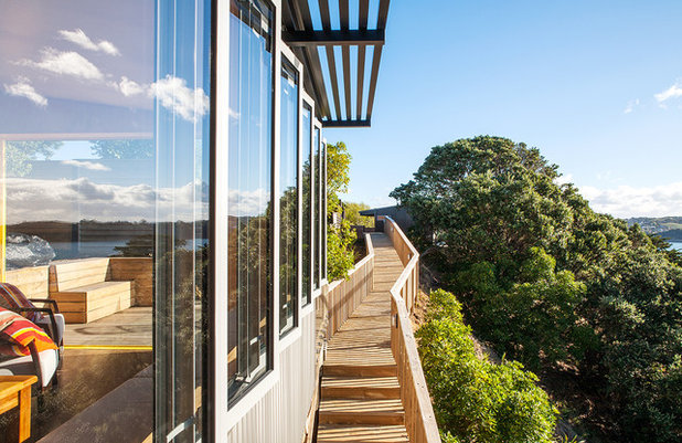 Contemporain Terrasse en Bois by Box™ Design & Build