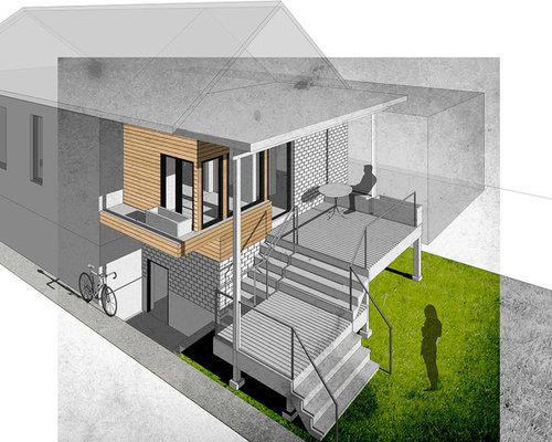 Photos et idées déco de terrasses scandinaves avec un foyer extérieur