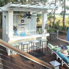 Beach Style Deck by DLB Custom Home Design