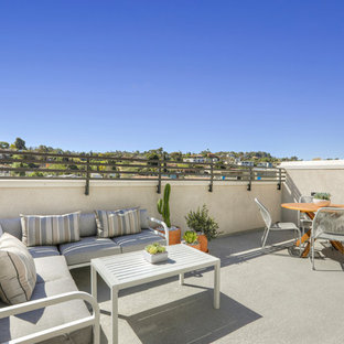 Trendy rooftop deck photo in Los Angeles with no cover