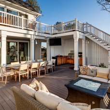 Beach Style Deck by Evergreene Homes