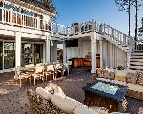 Best second floor deck design ideas remodel pictures houzz for Second floor deck ideas