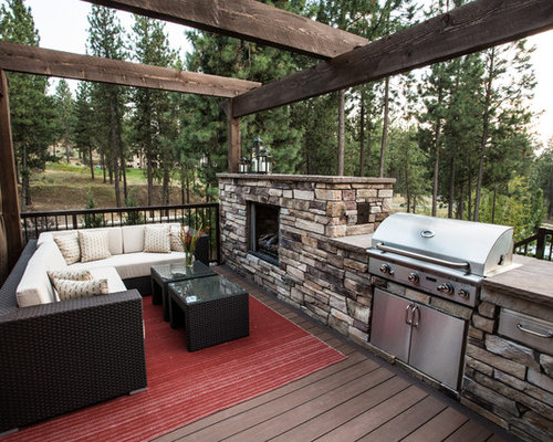 SaveEmail - Outdoor Fireplace Grill Design Ideas & Remodel Pictures Houzz