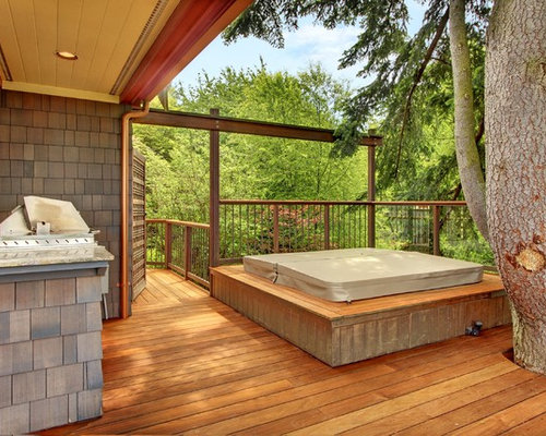 Hot Tub Surround Home Design Ideas Pictures Remodel And