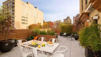 West Village Rooftop Garden with Fencing, Outdoor Furniture, Garden Rooms