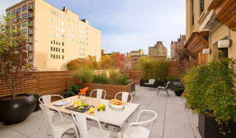 West Village Rooftop Garden with Fencing, Outdoor Furniture, Garden Rooms