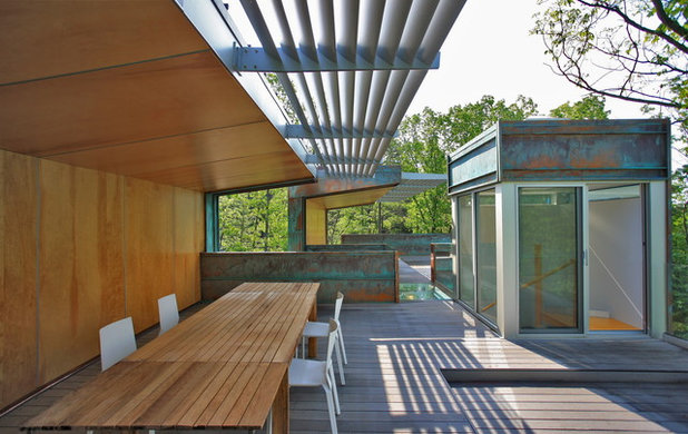 Modern Deck by Travis Price Architects