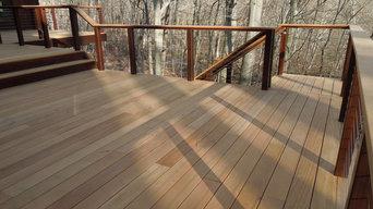 Weston - Hardwood Deck w/ Cable Railings