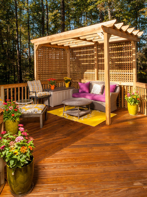 outdoor wood privacy trellis houzz