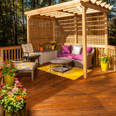 Traditional Deck by Steven Paul Whitsitt Photography