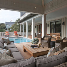 Beach Style Deck by Herlong and Associates Interiors