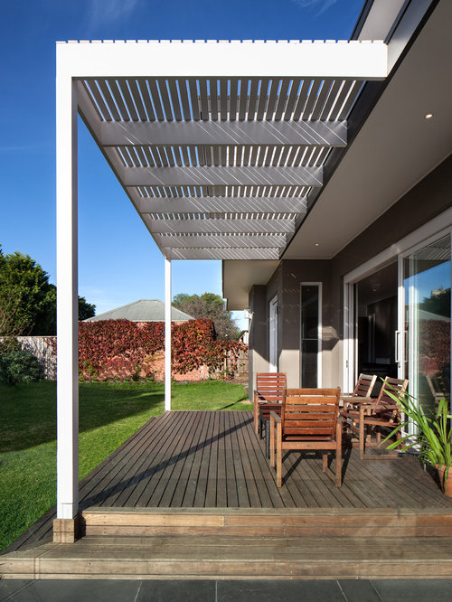 Add Pergola To Existing Deck Houzz
