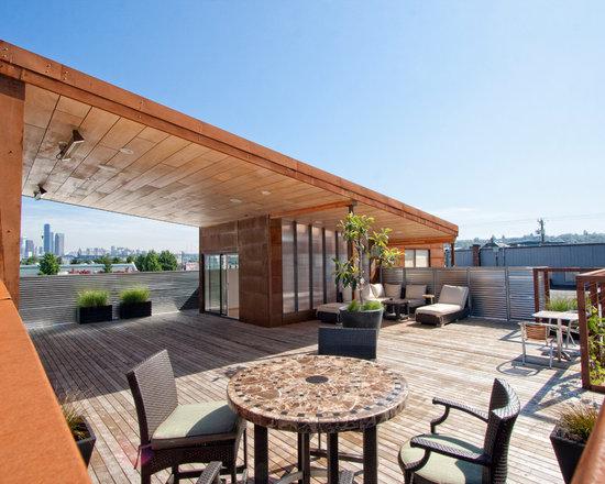 rooftop patio   houzz - Rooftop Patio Ideas