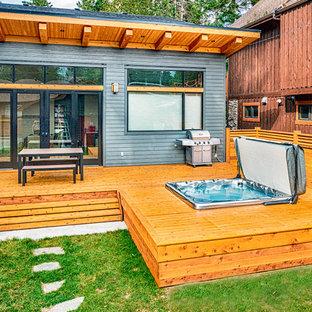 Esempio di una terrazza stile rurale di medie dimensioni e dietro casa