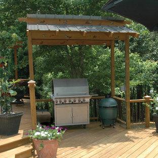 Inspiration för klassiska terrasser på baksidan av huset