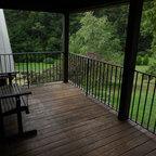 Two Level Covered Deck Rustic Deck Seattle By