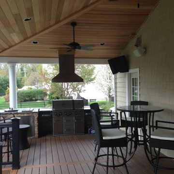 Yardley Deck with Roof & Outdoor Kitchen