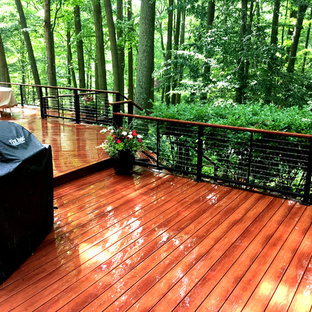Inspiration for a large contemporary backyard deck in Philadelphia.